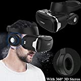 3D Virtual Reality Headset, Tsanglight VR Headset/Glasses with Built-in 3D Headphones for 4.5-6.0' Android/iOS for Samsung Galaxy S7 Edge S6, iPhone 7 6 6S Plus etc