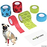 ECO-FUSED Self Adhering Bandage - Injury Wrap Tape for Dogs - Pack of 6 - Supports Muscles and Joints - Does not Stick to Hair - Elastic, Water Repellent, Breathable - Relieves Stress (for Dogs)