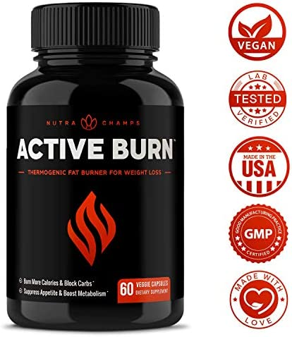 Fat Burner for Women & Men - Thermogenic Weight Loss Supplement with Green Tea Extract & White Kidney Bean - Carb Blocker, Appetite Suppressant, Energy & Metabolism Booster - 60 Diet Pills 8