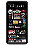 JOYLAND Rubber Phone Case/Friends Design/Funny Sitcom TV Parody Collection Protective Case Gel Cover for iPhone 8 Plus/7 Plus