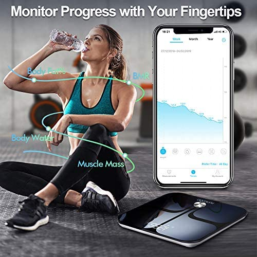 Digital Scale - Wi-Fi Bluetooth Auto - Switch Smart Scale Digital Weight, Body Fat Scale for Weight, 14 Body Composition Monitor with iOS, Android APP, Support Unlimited Users, Auto - Recognition 4