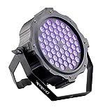 DragonX Professional UV LED Halloween Black light Cannon Decor - LED 180W Par Can Wash - Dimmable Strobe Ultraviolet Blacklight Spotlight, Party Uplighting DJ Stage Flood Light, DMX 512 Controllable