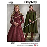 Simplicity Patterns US8768R5 Costumes, R5 (14-16-18-20-22)