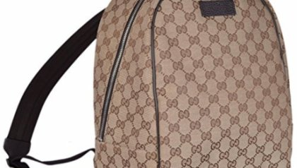ed2cdfdce585 Gucci XL GG Floral Print Backpack Bag Leather Spring Embroidery Bird ...