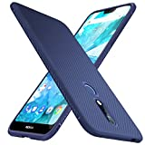 Nokia 7.1 Case, KuGi Nokia 7.1 Case, JS Scratch Resistant & Anti Slip Grippy Soft TPU Case for Nokia 7.1 Case Smartphone(Navy Blue)