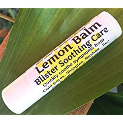 "Lemon Balm Blister Soothing Care Stick! Quickly Soothe Cold Sores, Shingles, Chicken Pox, Rashes, Herpes, Molluscum, Bug Bites. Suppress Future outbreaks. 100% Natural.""Goodbye, Itchy red Bumps!"" (1)"