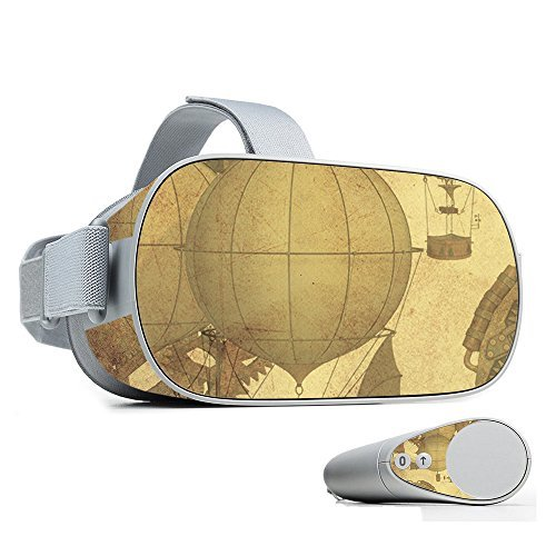 MightySkins Skin Compatible with Oculus Go Mobile VR - Steam Punk Paper | Protective, Durable, and Unique Vinyl Decal wrap Cover | Easy to Apply, Remove, and Change Styles | Made in The USA