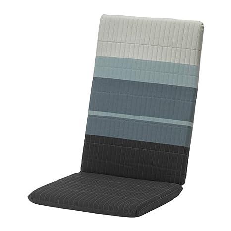 Ikea Cuscino Per Sedia Poang Lyskraft Blu E Grigio