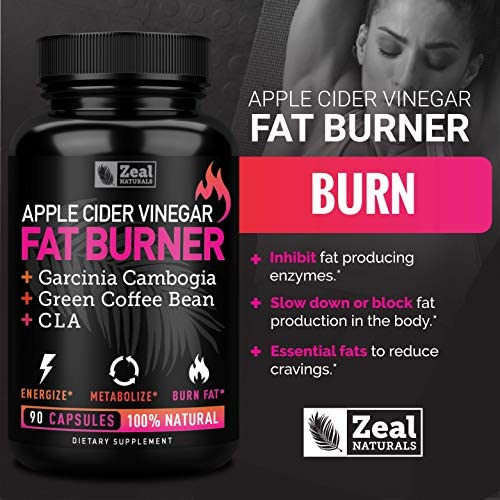 Apple Cider Vinegar Weight Loss Pills for Women - Garcinia Cambogia + Apple Cider Vinegar Pills for Weight Loss w. CLA & Green Coffee Bean Green Tea Fat Burner Pills - Detox Cleanse Weight Loss Pills 6