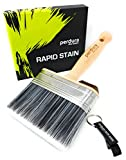 Perdura Rapid Stain Deck Stain Brush Fence Floor Applicator - 5 inch Paint Brush - Stain Seal and Paint Fast! - Outlasts Other Paint Brush Tools - Water and Oil Based Coatings for Wood and Concrete