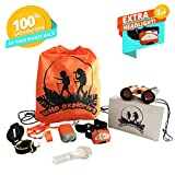 Kids Camping Gear-Outdoor Exploration Learning Set for Boys/Girls Age 2 3 4 5 6 7 & 8-Boy Adventure Gifts-Toddler Explorer Toys: Kid Binoculars, Headlamp, Flashlight, Compass, Magnifying Glass,Whistle