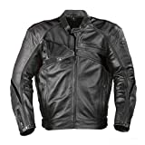Joe Rocket Superego Men's Hybrid Leather/Mesh Motorcycle Jacket (Black, Medium)
