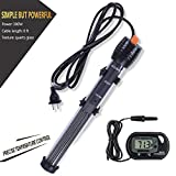 Orlushy Submersible 300W Aquarium Heater-Fish Tahk Heater With Adjust Knob Thermostat 2 Suction Cups Suitable for marine saltwater and freshwater