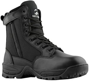 Maelstrom Men's Tac Force 8 Inch Military Tactical Duty Work Boot With Zipper, Black, 8 W US