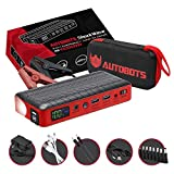 Autobots Shockwave Jump Starter | Best Portable Car Battery Booster with Smart Jumper Cables | 600 Peak Amp 18000 mAh 12 V Automotive Jump Box Power Pack & Mobile Super Charger Kit