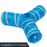 Prosper-Pet-Cat-Tunnel-Collapsible-3-Way-Play-Toy-Tube-Fun-for-Rabbits-Kittens-and-Dogs-Aqua