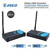 Orei Wireless HDMI Transmitter Extender Receiver Hdbitt Supports Full HD 4K @ 60Hz with IR - Upto 600 ft