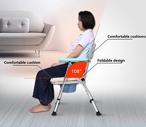 Luckyyan Folding Commode Comfort Chair With Padded Toilet