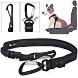 SlowTon Dog Car Seat Belt, Pet Seatbelt Clip Tether Puppy Safety Latch Bar Attachment Harness Leash Small Medium Large Dogs Adjustable Restraint Lockable Swivel Carabiner for Doggie Travel