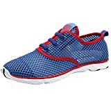 ALEADER Men's Quick Drying Aqua Water Shoes Red 9.5 D(M) US