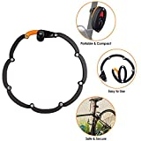 WOTOW Bike Foldable Lock, Bicycle Folding Lock Collapsible Metal Chain Cable Safety Lock with 3 Keys with Storage Mounting Bracket Reflective Sticker for Mountain Road City Bike Unfolds to 35'/90cm