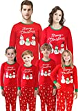 Family Matching Christmas Santa Claus Pajamas 2 Piece Set Sleepwear for Women Mum Size M