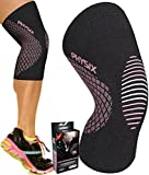 Physix Gear Knee Support Brace - Premium Recovery & Compression Sleeve for Meniscus Tear, ACL, MCL Running & Arthritis - Best Neoprene Stabilizer Wrap for Crossfit, Squats & Workouts -Single Pink XXL