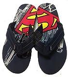 Mens Superman Comic Flip Flop Sandal (L 11/12)