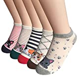 FAYBOX 5 Pack Women Low Cut Ankle Socks No Show Running Sport (Cat 5 pairs)