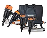 Freeman P4FRFNCB Pneumatic Framing and Finishing Combo Kit with Canvas Bag (4-Piece) Nail Gun Set with Framing Nailer, Finish Nailer, Brad Nailer, and Narrow Crown Stapler