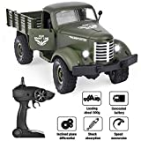 Rainbrace Remote Control Truck Army Toys for Boys, Kids 1/16 RC Military Truck 4wd, Remote Control Car Electric Off Road Military RC Trucks Vehicle Rechargeable Batteries Great Gift