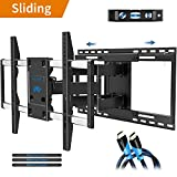 "Full Motion TV Mount with TV Centering Design for Most 42-70 Inch TVs, Swivel Articulating TV Wall Mount with 19"" Extension - Max VESA 600x400mm, Mounting Dream MD2198"