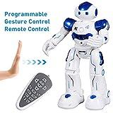SGILE Remote Control Robot, RC Programmable Educational Robot for Kids Birthday Gift Present, Interactive Walking Singing Dancing Smart Intelligent Robotics for Kids Boy, Blue