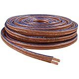 The Wires Zone TWZ-SWC10 Car Home Audio Speaker Wire Transparent Clear Cable 10AWG 10/2 Gauge (100 Feet), 1'