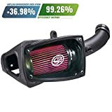 S&B Filters 75-5104 Cold Air Intake for 2011-2016 Ford Powerstroke 6.7L (Cotton Cleanable Filter)