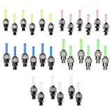 CUGBO Pack of 30 Led Flash Tyre Wheel Valve Cap Light for Car Bike Bicycle Motorcycle Wheel Light Tire (Red, Yellow, Blue, Green, Mixed)