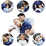 Memory Foam Pillow Cervical Neck Pillow for Sleeping, U shaped Ice Silk Fabric Arched Pillow, Slow Rebound Pressure Romantic Couple Pillow Side Sleeper Pillow, Couple Travel pillow, Office Rest Pillow