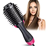 HiEHA Hot Air Brush, One Step Hair Dryer & Volumizer, 3-in-1 Hair Dryer Brush Styler, Negative Ion Electric Hair Blow Dryer for Straightening, Curling, Drying, Reducing Frizz and Static
