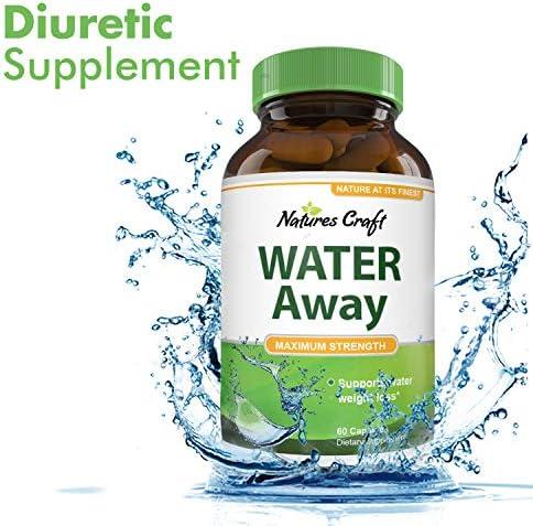 Natural Water Pills - Reduce Excess Water - Weight Loss Appetite Suppressant Benefits - Vitamin B6 Pyridoxine Hydrochloride - Dandelion Root + Pure Green Tea Diuretic for Women & Men 10