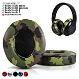 Beats Replacement Ear Pads by Wicked Cushions - Compatible with Studio 2.0 Wired/Wireless and Studio 3 Over Ear Headphones by Dr. DRE ONLY (Does NOT FIT Solo) (Green Camouflage)