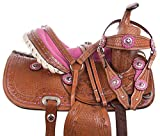 Product review for 10 12 13 PINK CRYSTAL COWGIRL PREMIUM LEATHER WESTERN PLEASURE TRAIL SHOW YOUTH KIDS BARREL RACING PONY SADDLE TACK SET
