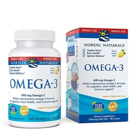 Nordic Naturals Omega-3 Soft Gels – Omega-3 Essential Fatty Acids Aid in Cognition, Heart Health, and Immune Support, Lemon Flavor