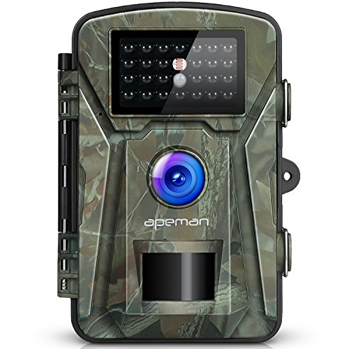 APEMAN-Trail-Camera-12MP-1080P-24-LCD-GameHunting-Camera-with-940nm-Upgrading-IR-LEDs-Night-Vision-up-to-65ft20m-IP66-Spray-Water-Protected-Design