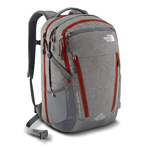 TNF Surge Transit Pack Zinc Grey Heather/Picante Red One Size