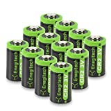 Enegitech CR2 Battery 3V Lithium 800mAh 12 Pack with PTC Protection DL-CR2 for Golf Rangefinder Baby Monitor Flashlight Funifilm Instax Mini55