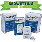 Wet Detective Bedwetting Kit, Incontinence & Bedwetting Alarm System, Includes 2 Sensor Pads
