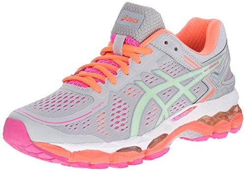 ASICS Women's Gel Kayano 22 Running Shoe, Silver Grey/Pistachio/Fiery Coral, 7.5 M US