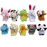 Christmas Day Gift,DalinovaStory Time 10pcs Velvet Animal Finger Puppets for Children