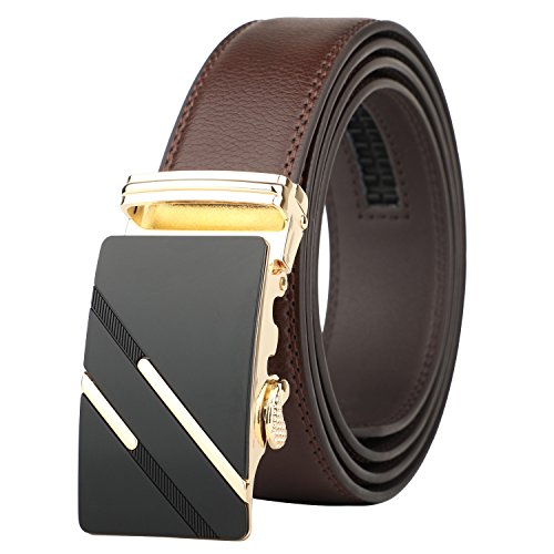 Lavemi Men's Real Leather Ratchet Dress Belt with Automatic Buckle,Elegant Gift Box(1245)