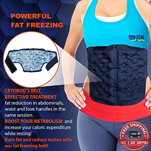 CRYOBOD Fat Freezing Belt |Cold Body Sculpting -Cold Wrap/Belt | Cold Sculpt Target Belly-Waist & Love Handles | Tone Up Stomach | Waist Trainer-Ultimate Freeze Wrap Skin-Safe Cryolipolysis 1
